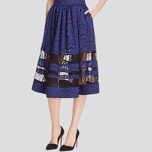 Alice + Olivia storm-blue Tamia Skirt